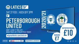 Latics TV - Peterborough United (A)